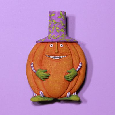Patience Brewster Halloween Pumpkin Pin