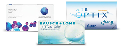 Contacts: Biofinity, Air Optix and FreshLook