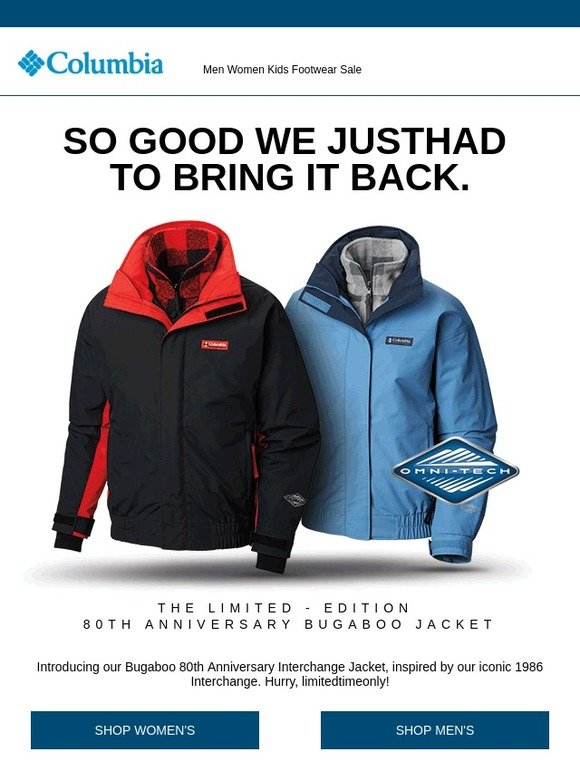 39aedc356 Columbia Sportswear Canada: So good we just had to bring it back ...