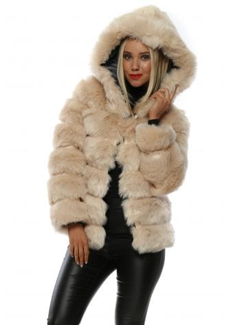 Kate Spade Faux-fur Mink Coat in Dark Brown (Brown) - Lyst