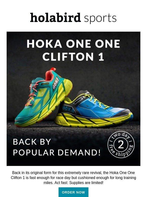 official photos aa2da 46ed0 Holabird Sports: The Hoka One One Clifton 1 is back! LIMITED ...