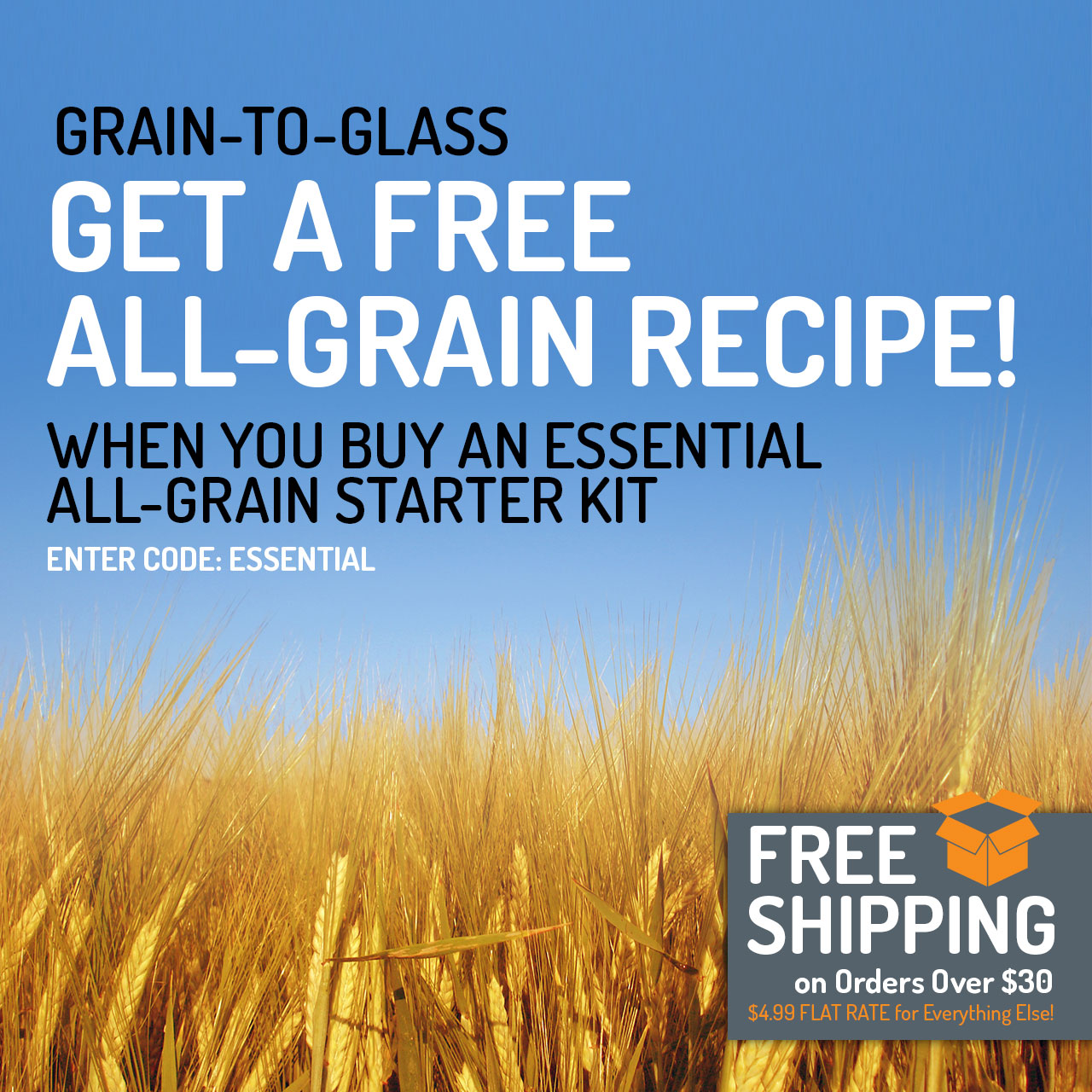 Free All-Grain Recipe Kit w/ Purchase of All Grain Starter Kit, through 10/22/2018, at 11:59 pm (CST)