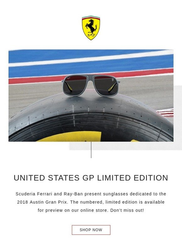 d938a6feb4 Ferrari Store  Ray-Ban for Scuderia Ferrari United States GP Limited Edition
