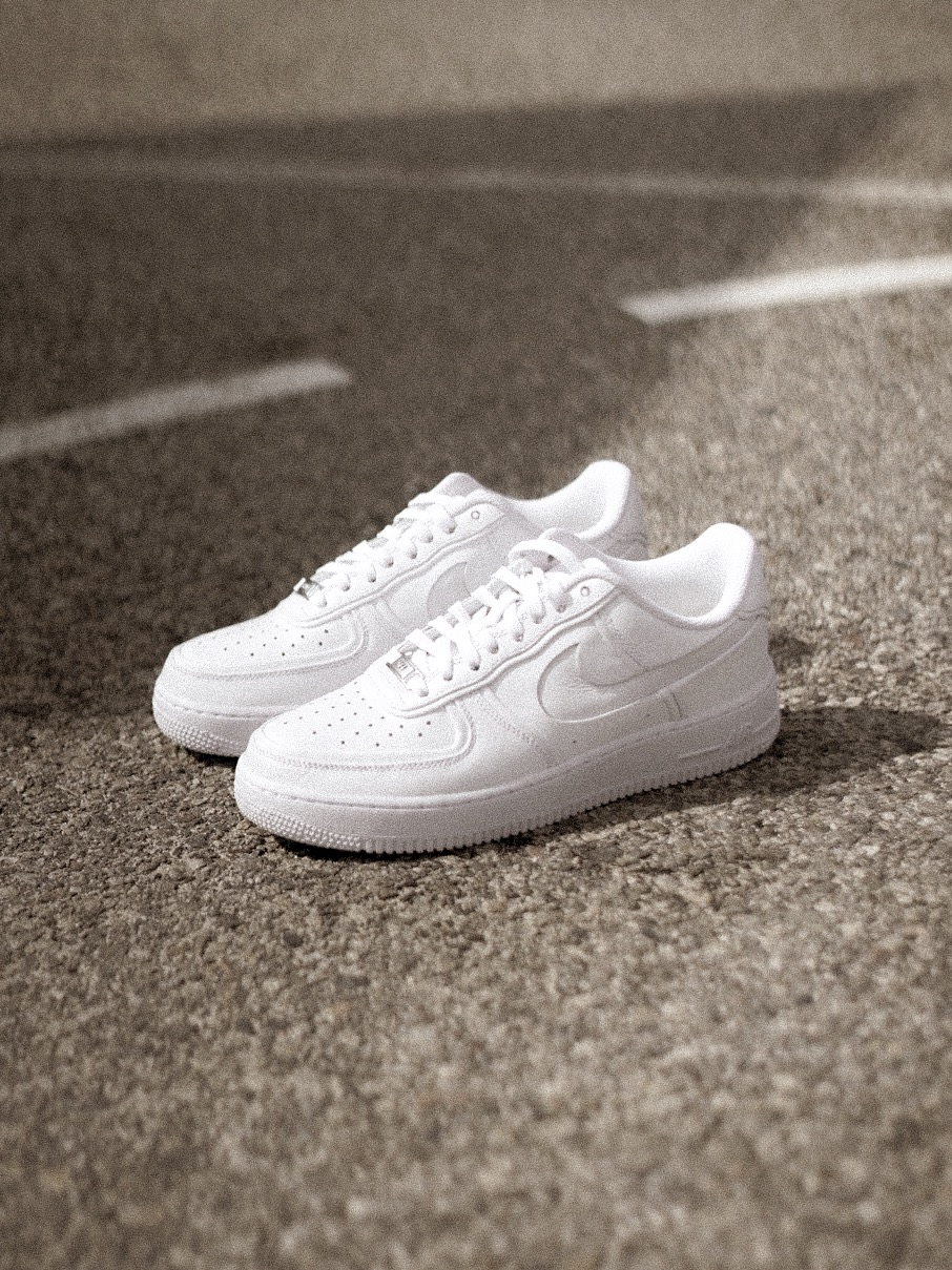 4519898dd John Elliott's NikeLab Air Force 1 is reimagined by using layers to create  the illusion of color through shadows, giving a new dimension to the all  white ...