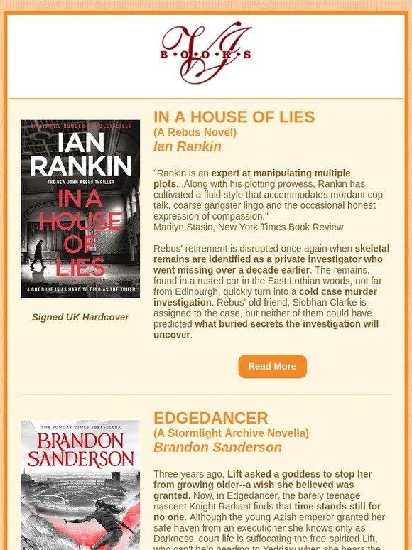 VJ Books: Ian Rankin, Brandon Sanderson UK Editions | Milled