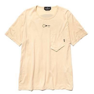 54abd1b7 Stone Island Shadow Project Mako Cotton Jersey Garment Dyed Pocket T-Shirt  Sand