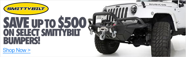 Save up to $500 on Smittybilt bumpers