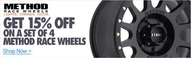 15% off Method Racing Wheels