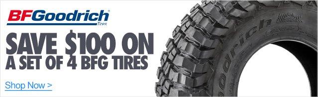 $100 Off On A Set Of 4 BFG Tires
