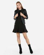 (minus the) leather double peplum jacket