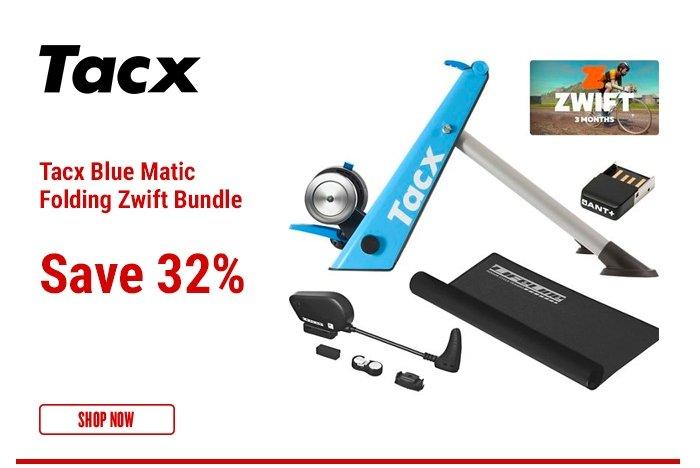 Tacx Blue Matic Folding Zwift Bundle