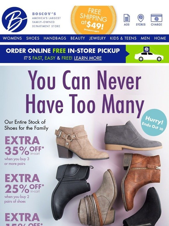 Our Extra Discount Shoe Sale Ends