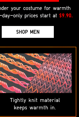 HEATTECH ITEMS - SHOP MEN