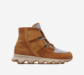 Profile image of a camel brown Kinetic Short Lace boot on a white background