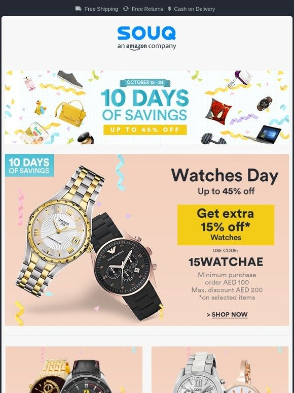 Souq KSA: 10 Days of Savings | It's Watches Day ⌚ | Milled