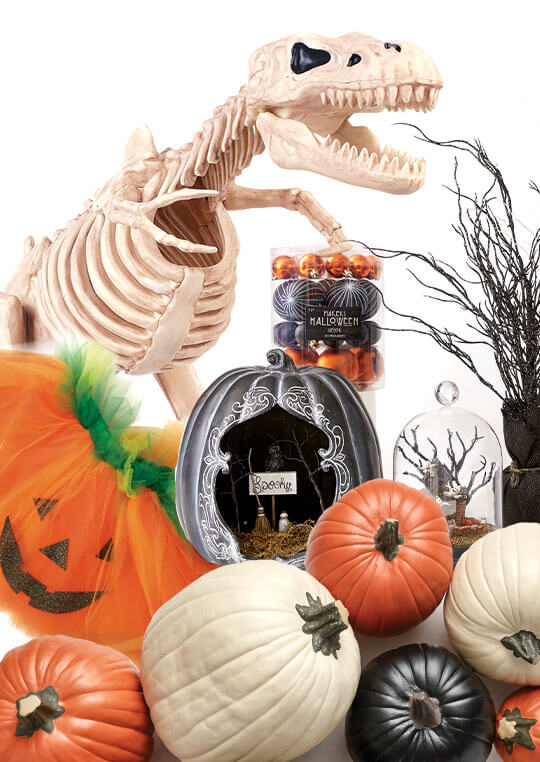 Halloween decor, entertaining and textiles .