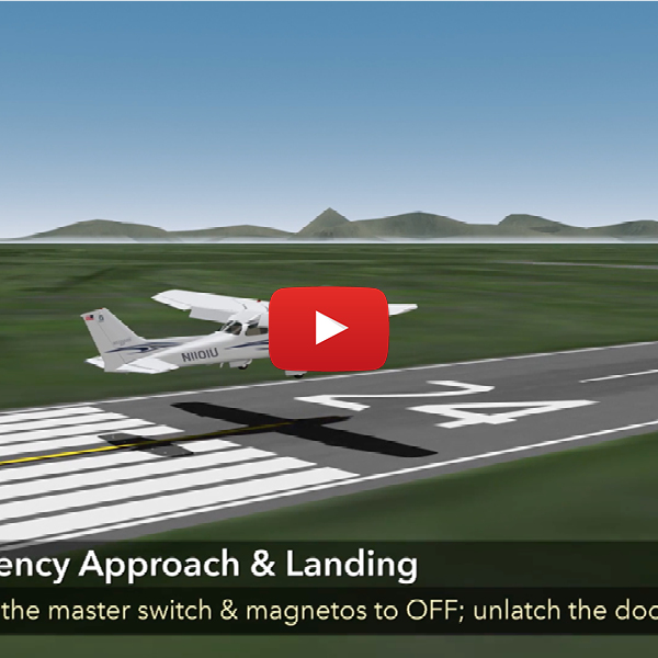 2. Emergency approach and landing - HD flight maneuver spotlight.