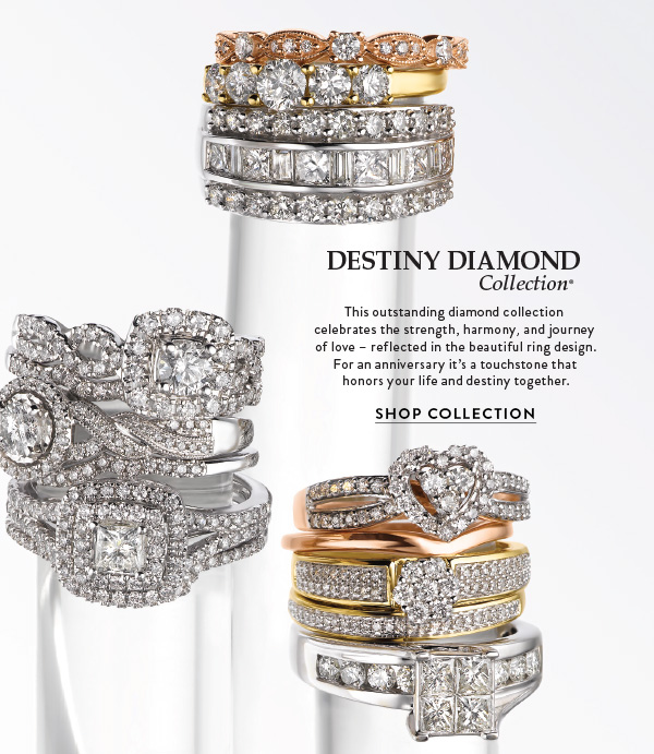 Fred Meyer Jewelers Honor Your Commitment With The Destiny Diamond Collection Milled