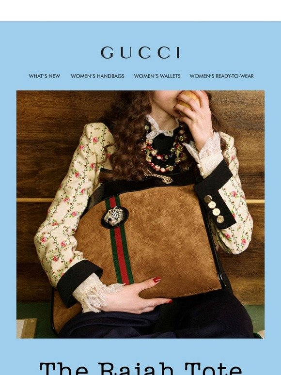 33d7f40e75b Gucci  New Bags  The Suede Rajah Tote