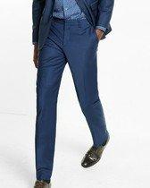 slim navy performance stretch wool-blend suit pant