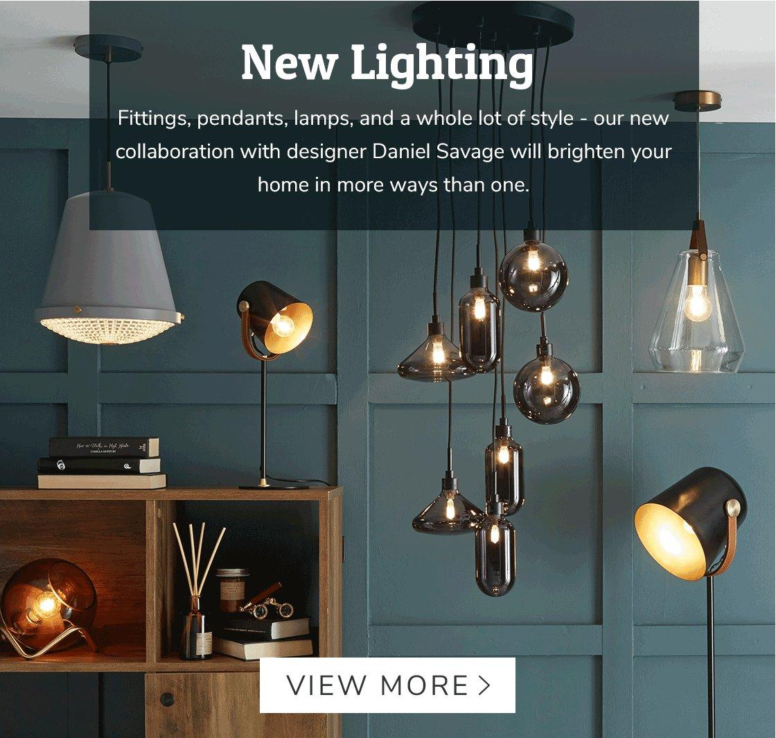 Dunelm New Lighting From Daniel Savage Milled