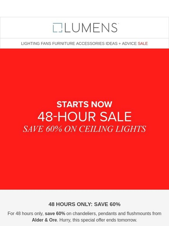 f41ec6546f06 Lumens: 48 hours only: Save 60% on ceiling lights from Alder & Ore. | Milled