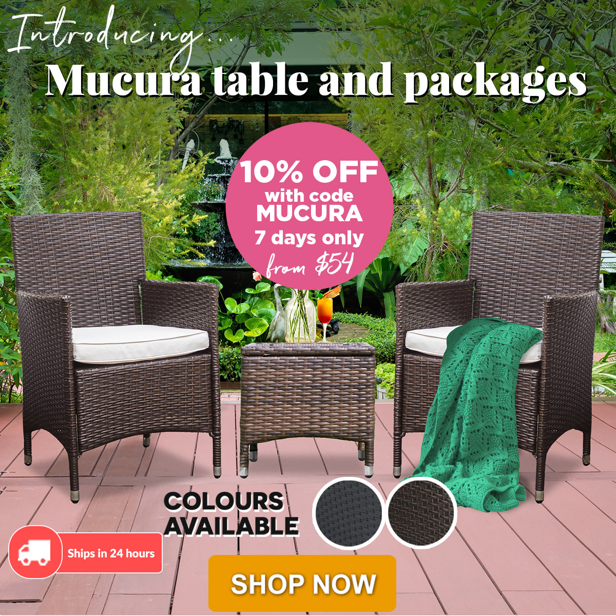Mucura Wicker Outdoor Side Table - Deluxe Products: 👀 Launching New Outdoor Table And Sets |10% OFF