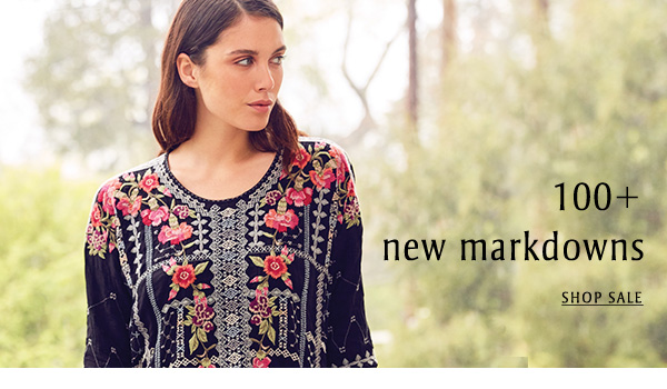 100+ NEW MARKDOWNS - SHOP SALE