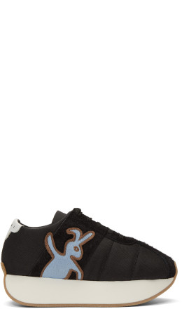 Marni Dance Bunny - Black Bunny Platform Sneakers
