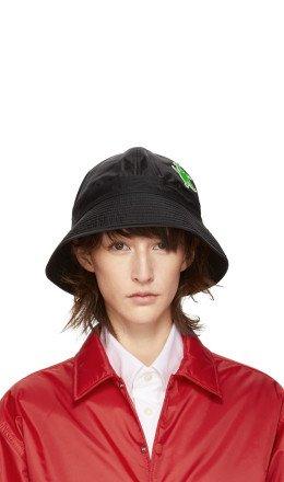 Marni Dance Bunny - Black Bunny Patch Bucket Hat