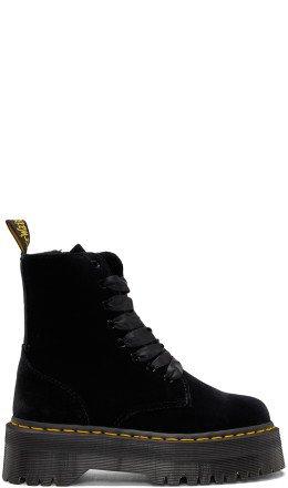 Dr. Martens - Black Velvet Jadon Platform Boots