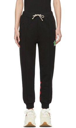 Marni Dance Bunny - Black Striped Bunny Lounge Pants