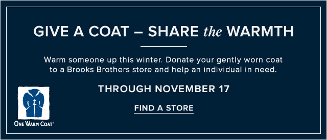GIVE A COAT | FIND A STORE