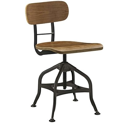 Brown Mark Wood Bar Stool
