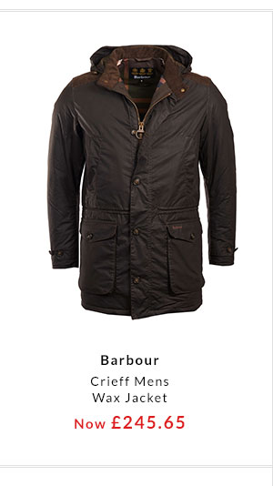 3591ac4e1df BARBOUR Sundrum Quilted Womens Jacket · BARBOUR Crieff Mens Wax Jacket