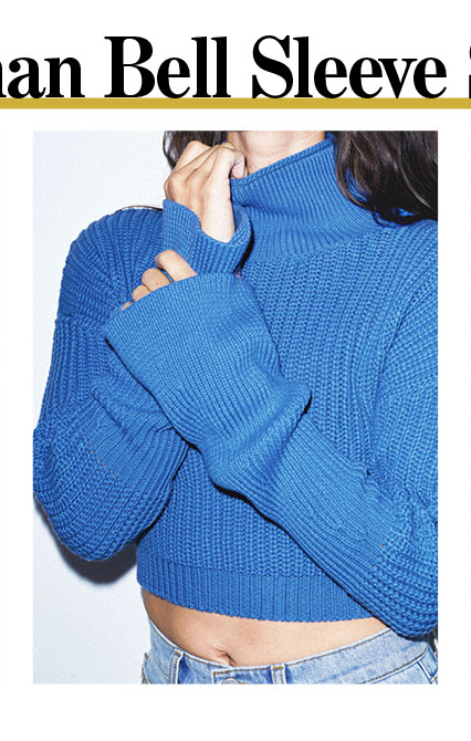Fisher Man Bell Sleeve Sweater