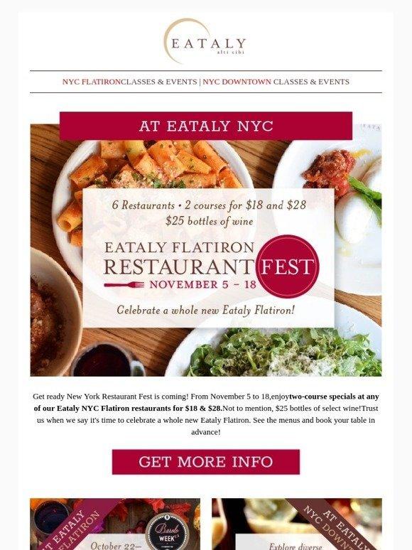 Eataly Na Celebrate A Whole New Eataly Flatiron At Restaurant Fest