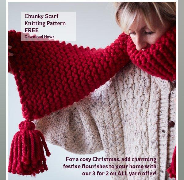Hobbycraft Free Chunky Scarf Knitting Pattern Milled