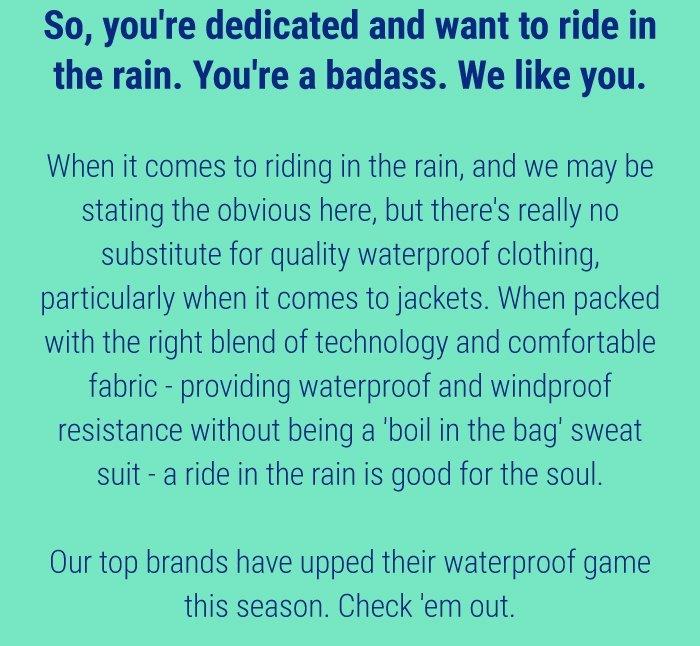 Waterproof clothing