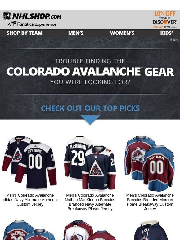 a2d4fde1b8c Shop.NHL.com  Top Avalanche Picks For You