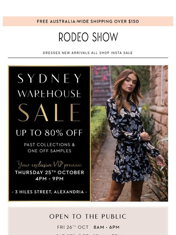 Rodeo Show: Sydney Warehouse Sale | Milled