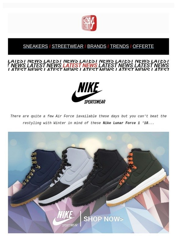 newest collection a5c94 d3231 Moveshop  NIKE Lunar Force 1  18 + Highlight, Boots   Winterized Sneakers    Milled