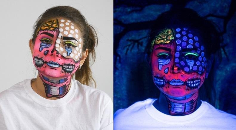 Arteza Art Supplies Blog Easy Face Painting Pop Art Zombie Makeup Milled