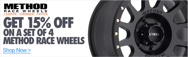 15% off Method Racing Wheels