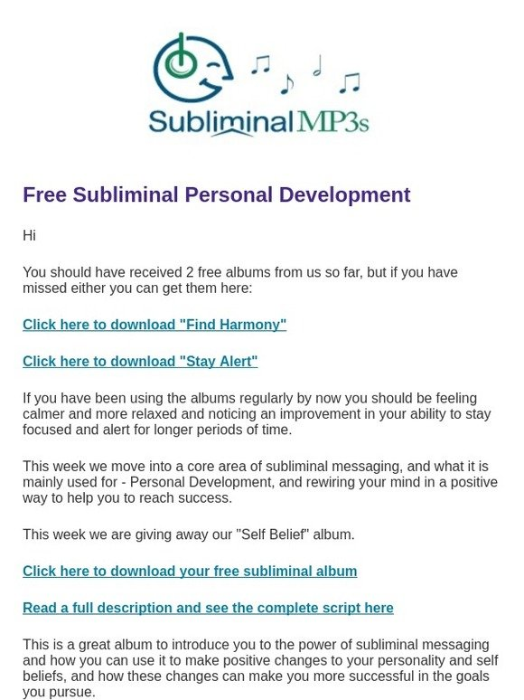 """Subliminal Mp3s - In """""""