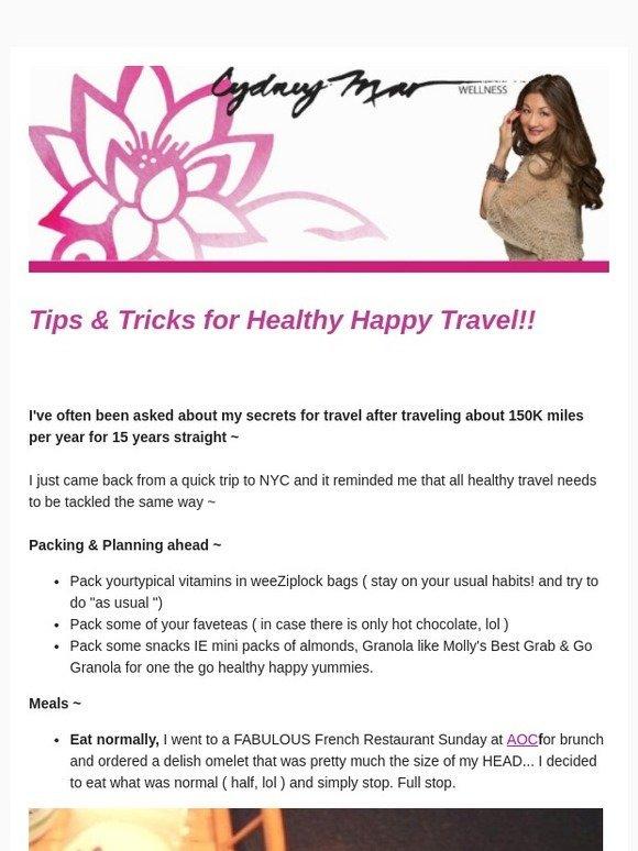 Cydney Mar Wellness  Travel Health Tips  8b42991a7