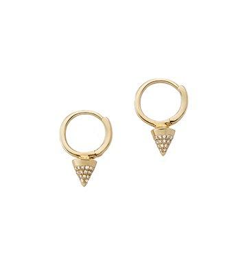 Luxe Spike Nia Huggie Earrings