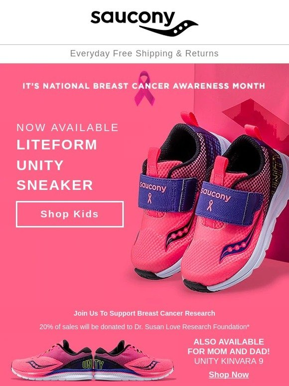 Saucony: NOW AVAILABLE: Liteform Unity sneaker for kids + a