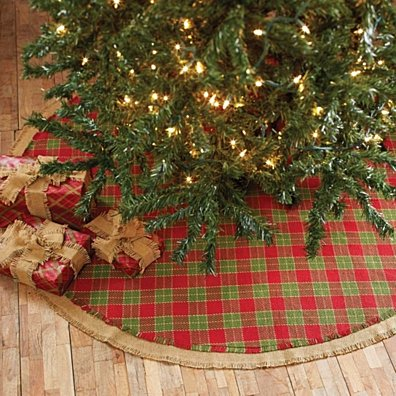 Seasonal Holiday Robert Red Tree Skirt