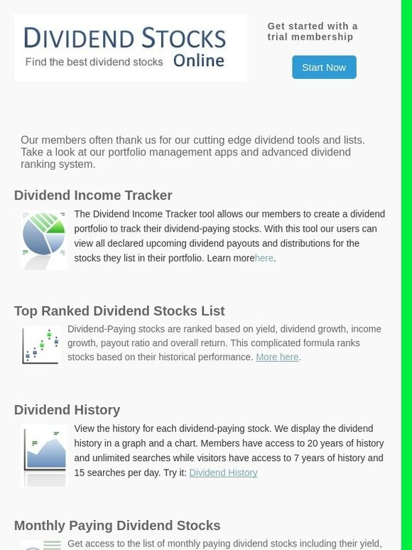 Top Dividend Stocks: Dividend Tools and Lists | Milled